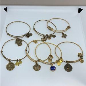 Lot of 7 Alex and Ani bracelets